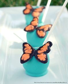 Butterfly Cake Pops Tutorial - a great dessert for a spring tea party!