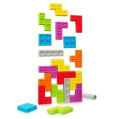My fridge would be a lot cooler with this Tetris Magnet Set