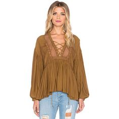 Free People Don't Let Go Peasant Top Tops