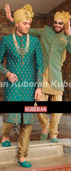 Kuberan Blue Beige Sherwani #sherwani #love #mens #outfits #outfitoftheday #outfitideas #mensoutfits #ethnic #wedding Sherwani For Men Wedding, Wedding Dresses Men Indian, Wedding Dress Men, Ethnic Wedding, Wedding Men, Wedding Suits, Punjabi Wedding, Indian Weddings, Farm Wedding