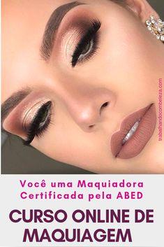 Video Makeup Course - Maquiagem Profissional - Make Up for Party - Maquiagem Makeup Inspo, Makeup Inspiration, Beauty Makeup, Hair Makeup, Buy Makeup Online, Makeup To Buy, Professionelles Make Up, How To Make Hair, Bride Makeup