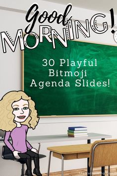 Beautiful, playful and editable Daily Agenda Slides for distance learning or for your responsive classroom! Morning message, to do list, notes, agendas. Add your own Bitmoji! Future Classroom, School Classroom, Classroom Libraries, Classroom Decor, Professor, Responsive Classroom, Educational Technology, Teaching Technology, Classroom Organization