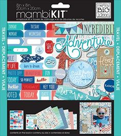 me  my BIG ideas Scrapbook Page Kit Ahoy 8Inch by 8Inch * Learn more by visiting the image link.Note:It is affiliate link to Amazon.