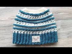 Crocheted Katniss Messy Bun Hat - YouTube