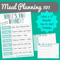 What is meal planning? What is meal planning you ask let alone how on earth do I actually do it? Meal planning is planning your meals, commonly dinn Thermomix Bread, Recipe Folder, Pizza Wheel, Printable Shopping List, Freezer Burn, What Recipe, Food Waste, Menu Planning, Healthy Foods To Eat