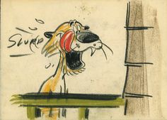 Storyboard Drawing from Donald Duck Hook, Lion And Sinker
