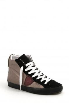 Philippe Model footwear - sneakers metallic alta suola nera gun - bronze  leather high sneakers c282fc39acb