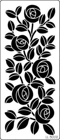 << craftylaser floral rose window screen allover