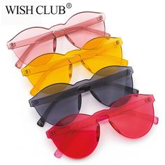 ef97015f11 SIMPLESHOW Fashion Lens Sunglasses Women Transparent Plastic Glasses Men  Frameless Sun Glasses Female Candy Color Eyewear Glass-in Sunglasses from  Women s ...
