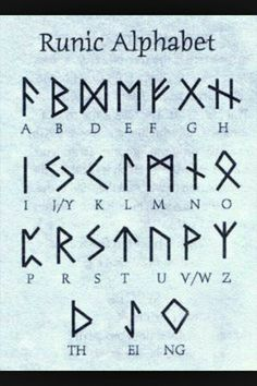 Viking Symbols of the germanic peoples norse speaking scandinavian the vikings Alphabet Code, Alphabet Symbols, Norse Alphabet, Japanese Alphabet Letters, Fun Fonts Alphabet, Witches Alphabet, Tattoo Alphabet, Alphabet Images, Viking Symbols