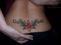 Tiger Lily Lower Back Tattoo