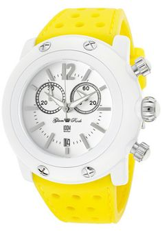 Women's Miami Beach Chronograph White Dial Yellow Silicone