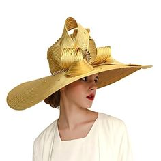 550fee76e93 Woman hats  48.00 Kueeni Women Hats Church Hats for Wedding Mother of Bride  Hats Silver (