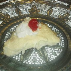 Creamy Pina Colada Pie vegan, plantbased, earth balance, made just right