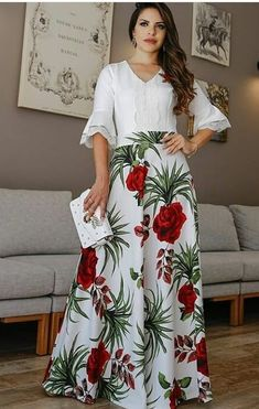 Style:Fashion Pattern Type:Floral Material:Polyester Length:Maxi Occasion:Casual Package Skirt Note: There might be difference according to manual measurement. Please check the measu. Casual Skirt Outfits, Modest Outfits, Classy Outfits, Indian Fashion Trends, Curvy Girl Fashion, Style Fashion, Printed Maxi Skirts, Floral Print Skirt, Chiffon Maxi Dress