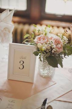 Rose Freesia White Wax and Eucalyptus Reception Table Arrangement