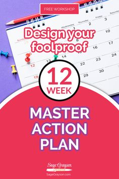 """Stop """"winging it"""" and build a plan of attack that's supercharged with urgency and intention. In this free workshop, you'll learn: * The secret to narrowing your focus to get better results. * The goal planning mistake you're absolutely making. * How to get more done in the next 12 weeks than you did in the past 12 months."""