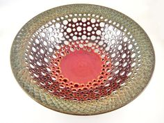 Pottery fruit bowl modern home decor lace bowl by Ningswonderworld