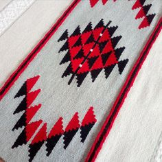 White red and black handwoven rug boho rug handwoven by RugsNBags Black White Rug, Black Rugs, White Rugs, Red Black, Southwest Rugs, Bohemian Rug, Boho Rugs, Synthetic Rugs, Navajo Rugs