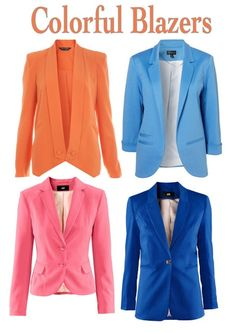 colorful blazers - accountant wardrobe worthy