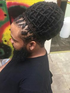Crown of locs! wow!