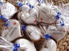 Perníkové svatební srdíčka-jmenovky 10 ks / Zboží prodejce Gaba73 | Fler.cz Gift Wrapping, Gifts, Gift Wrapping Paper, Presents, Wrapping Gifts, Favors, Gift Packaging, Gift