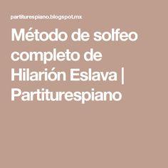 Método de solfeo completo de Hilarión Eslava | Partiturespiano