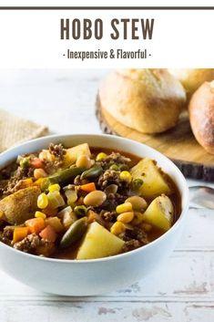 Hobo Stew via Fox Valley Foodie Chowder Recipes, Chili Recipes, Slow Cooker Recipes, Soup Recipes, Cooking Recipes, Crockpot Recipes, Hobo Stew, Best Lunch Recipes, Delicious Recipes
