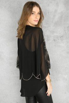 Collina Embellished Kimono $48.00