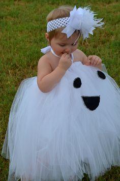 Laynee's 2012 Costume....Made by MOM <3   Gracie the Ghost Tutu Dress Halloween Costume. $49.95, via Etsy.
