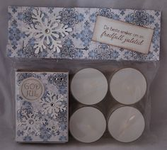 Kortparadis: Gavepakke til jul med dekorert fyrstikkeske og telys Diy Christmas Gifts, Scandinavian, Match Boxes, Presents, Scrapbook, Amazing, Holiday, Cards, Craft Ideas
