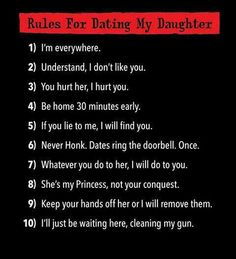 Rules for dating my niece