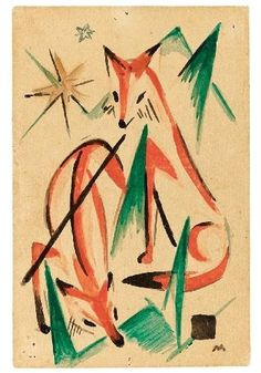 FÜCHSE (FOXES) by Franz Marc