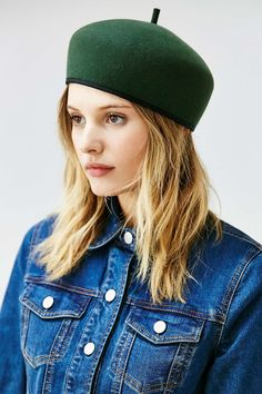 I don't discriminate when it comes to hats. I pretty much own or have tried on every silhouette imaginable - with one exception: the beret. Even theFrancophile in mejust assumedthe clichéFrench chapeauxwould certainly be most unfavorableto my largetête and round face. But thanks