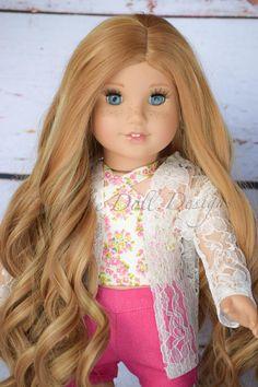American Girl doll Natural wig Brownie Heat safe Fits most 18/'/'dolls Blythe OG