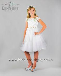 White Floral Off The Shoulder Flower Girls, Flower Girl Dresses, Kids Boutique, Off The Shoulder, Girls Dresses, Wedding Dresses, Floral, Flowers, Style