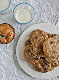Peanut Butter Banana Chocolate Chip Cookies.