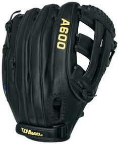 """Wilson A600 115 Fielder's Throw Baseball Glove (Right Hand, 11.5-Inch) by Wilson. $31.95. The Wilson WTA0600BB115 is a black 11.5"""" Dual Post Web fielder's glove for a right handed player. Save 47% Off!"""