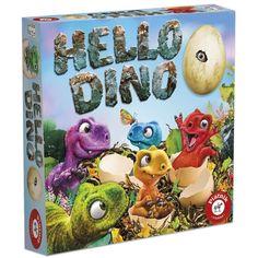 V dětské deskové hře Hello Dino se hráči snaží rozmístit dinosaury na správná místa v dinosauřím hnízdě. Fantasy, Dinosaurs, Bite Size, Fantasy Books, Fantasia