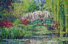 Spring in Giverny: Studio painting after teaching in Monet's garden, Giverny, France.