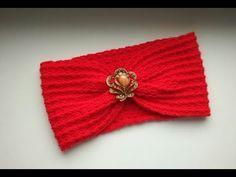 """Повязка чалма крючком для начинающих"" (Headband turban crochet for beginners) - YouTube"