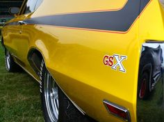 1970 Buick GSX Grand National Car, Buick Gsx, Old School Muscle Cars, Plymouth Fury, Buick Skylark, Yellow Car, Home Team, Performance Cars, American Muscle Cars