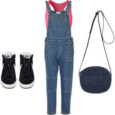 denim:) by atania1390 on Polyvore featuring polyvore fashion style Sea, New York NIKE Pure Lime N°21