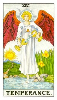 Temperance Card... Turning the wine back into water maybe?