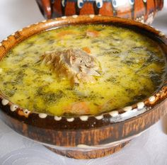 Ciorba+de+Miel Romania Food, Soup Recipes, Cooking Recipes, European Dishes, Hungarian Recipes, Romanian Recipes, Yummy Food, Tasty, Yummy Yummy