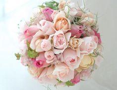 ブーケ ラウンド ルアンジェ教会様への画像:一会 ウエディングの花