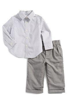 Ralph Lauren Poplin Shirt & Pants (Baby Boys) available at #Nordstrom