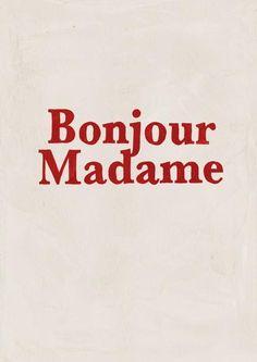 Bonjour Madame greeting card