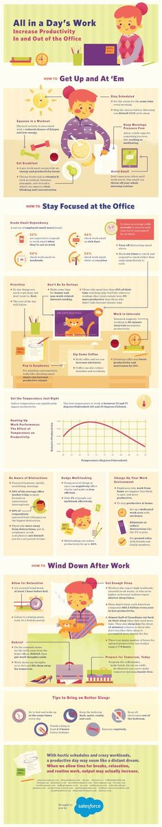 #Entrepreneurs Amp Up Productivity, Don't Spend a Thing - #infographic #careers