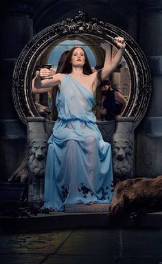 Photo reenactment of Waterhouse painting, Circe Offering the Cup to Ulysses, by Bert Barelds